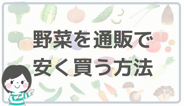 野菜を通販で安く買う方法